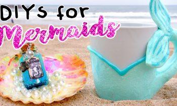 MERMAID DIYS You NEED To Try! ROOM DECOR For MERMAIDS!