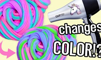 DIY COLOR CHANGING Unicorn SLIME! Two EASY Ways! NO borax/detergent