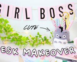 DIY Desk Decor & Organization for Back to School 2017   Desk Makeover! Kawaii & Tumblr!