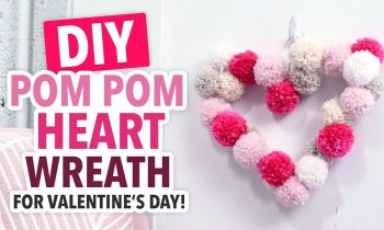 DIY Valentine's Day Pom Pom Heart Wreath – HGTV Handmade