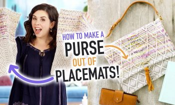 How to Make a Purse out of a Placemat! – HGTV Handmade