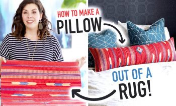 How to Make a Pillow out of a Rug! – HGTV Handmade