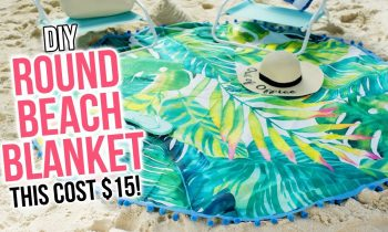 DIY Round Beach Blanket / No Sew Beach Towel (for cheap!) – HGTV Handmade