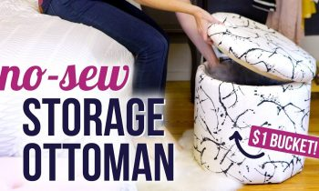 DIY No-Sew Storage Ottoman – HGTV Handmade