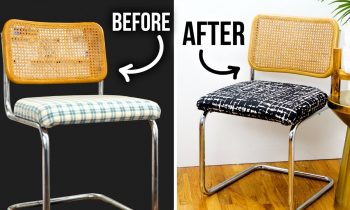 DIY Thrift Store Chair Makeover – How to Reupholster & Clean Rust – HGTV Handmade