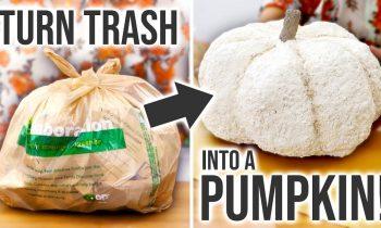 DIY Trash Pumpkin – How to Make a Faux Pumpkin from TRASH! – HGTV Handmade