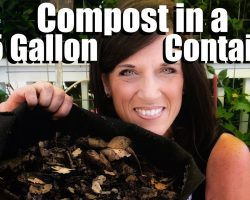 How to Compost in a Small Space in a 5 Gallon Container // Small Space Garden Series #8