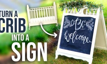 How to turn a Crib into a Sandwich Board Sign! – HGTV Handmade
