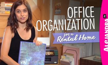 Home Office Organization Ideas (Rental Home)