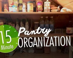 Pantry Organization (Quick 15-Minutes!)