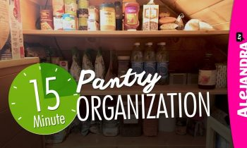 Pantry Organization (Quick 15-Minutes!)