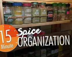 Spice Organization (Quick 15-Minutes!)