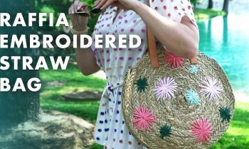 DIY Raffia Embroidered Straw Bag – HGTV Handmade